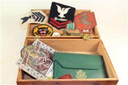Militaria Patches, Ration Books, Medals