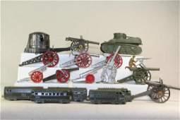American Dimestore Midgetoy Artillery And Trains