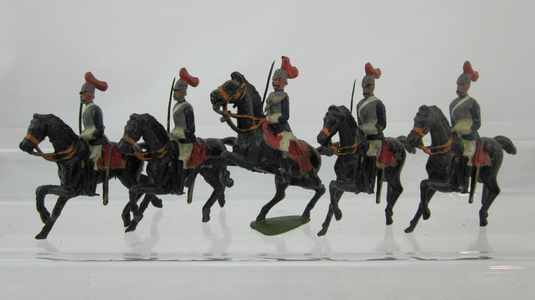 Britains Set #2 Horseguards On Germanic Horses.