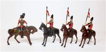 Britains From 33 165th Lancers with Officer