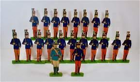 Milton Bradley Paper Soldiers U.S. Army Cadets