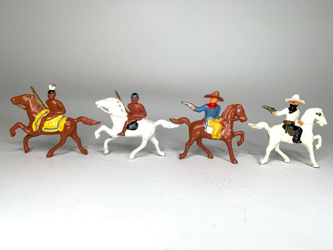 Barclay Cowboys and Indian Mounted Assortment
