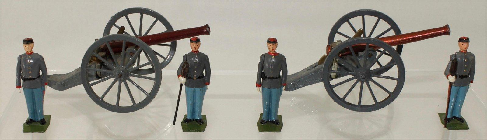 Britains Lot Set #2058 Confederate Artillery