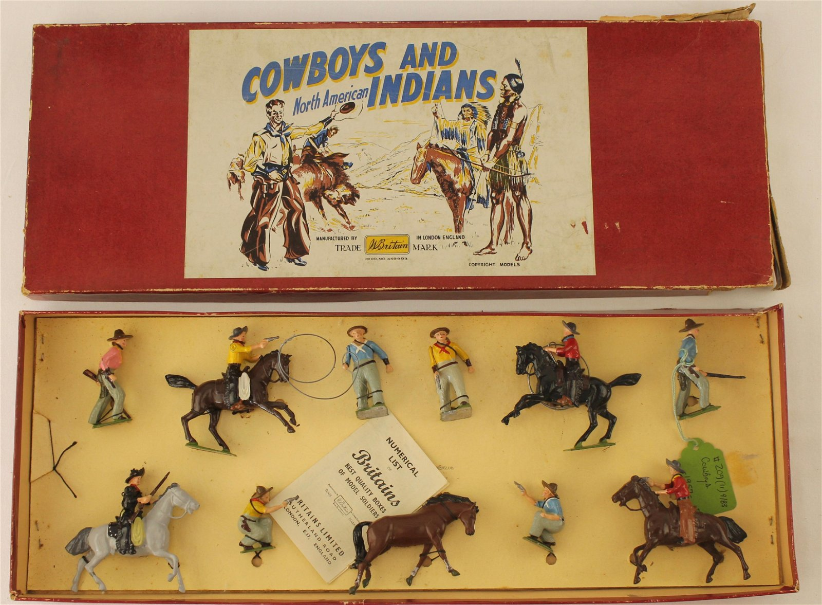 Britians Set #209 Cowboys Mounted and Foot