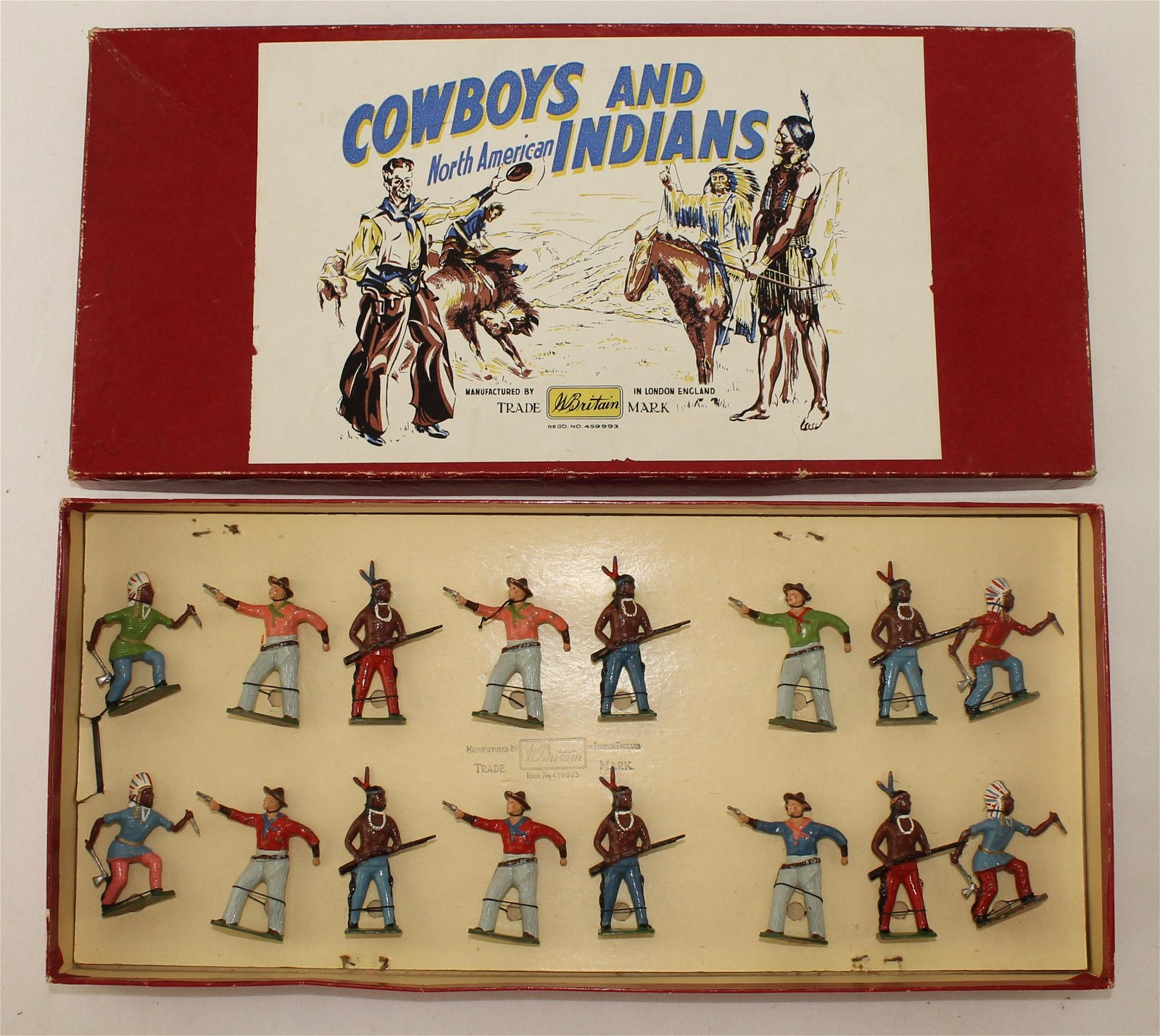 Britains Set #2163Q Cowboys and Indians on Foot