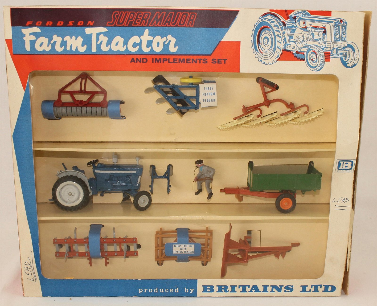 Britains Set #9597 Farm Tractor and Implements