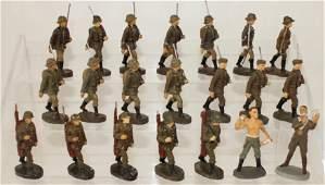 Elastolin Lot German Army Kreigsproduction
