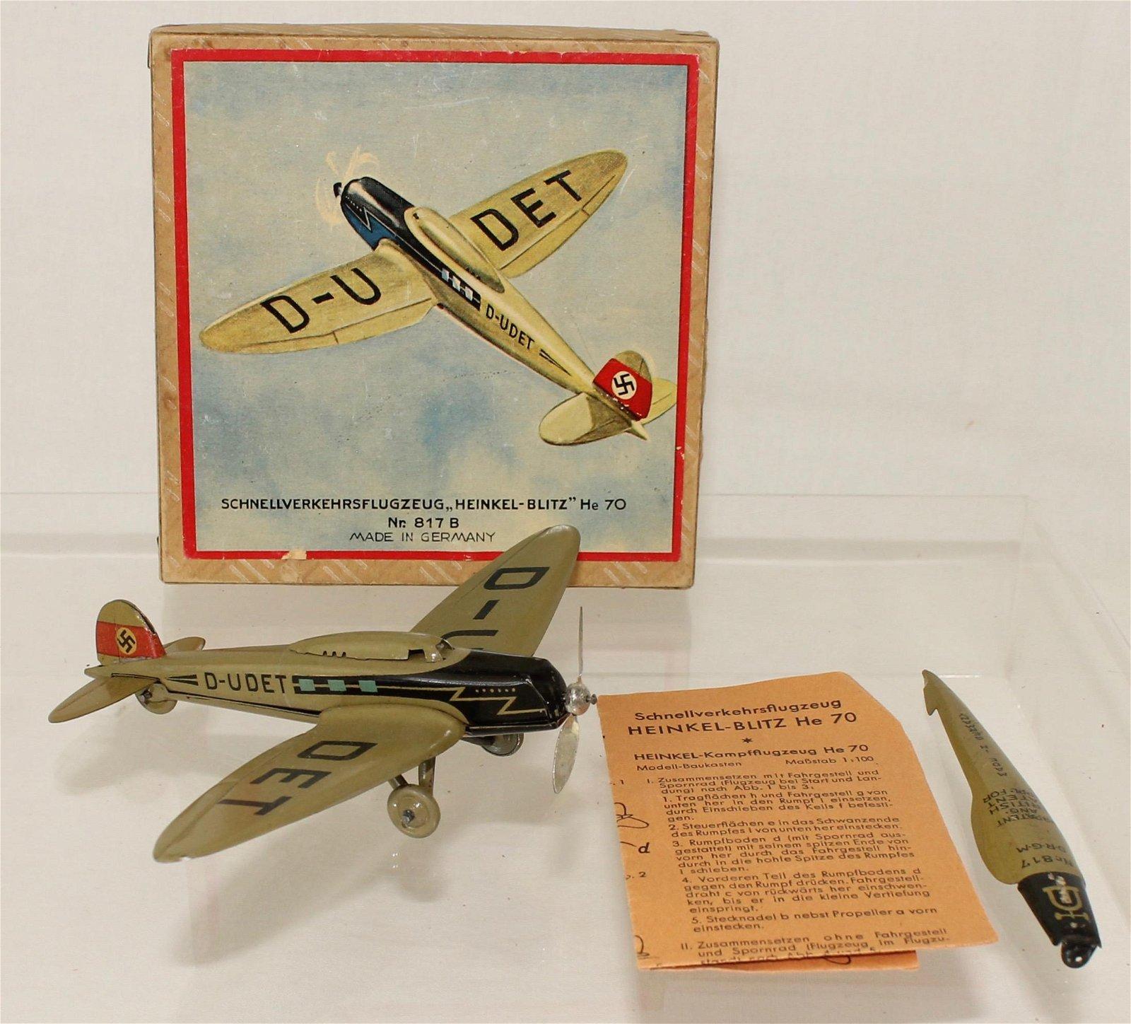 Lehmann #817-B Tinplate Heinkel Bomber