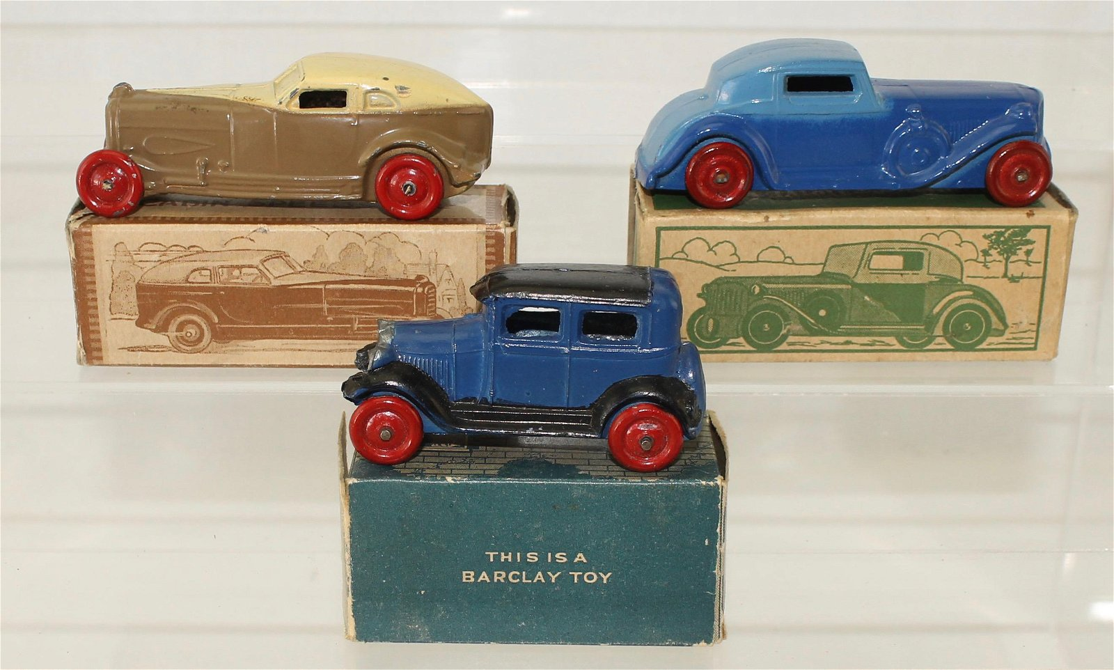 Barclay Lot Boxed Die-Cast Vehicles