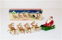 A Perfect Miniature Santa Claus on Sled