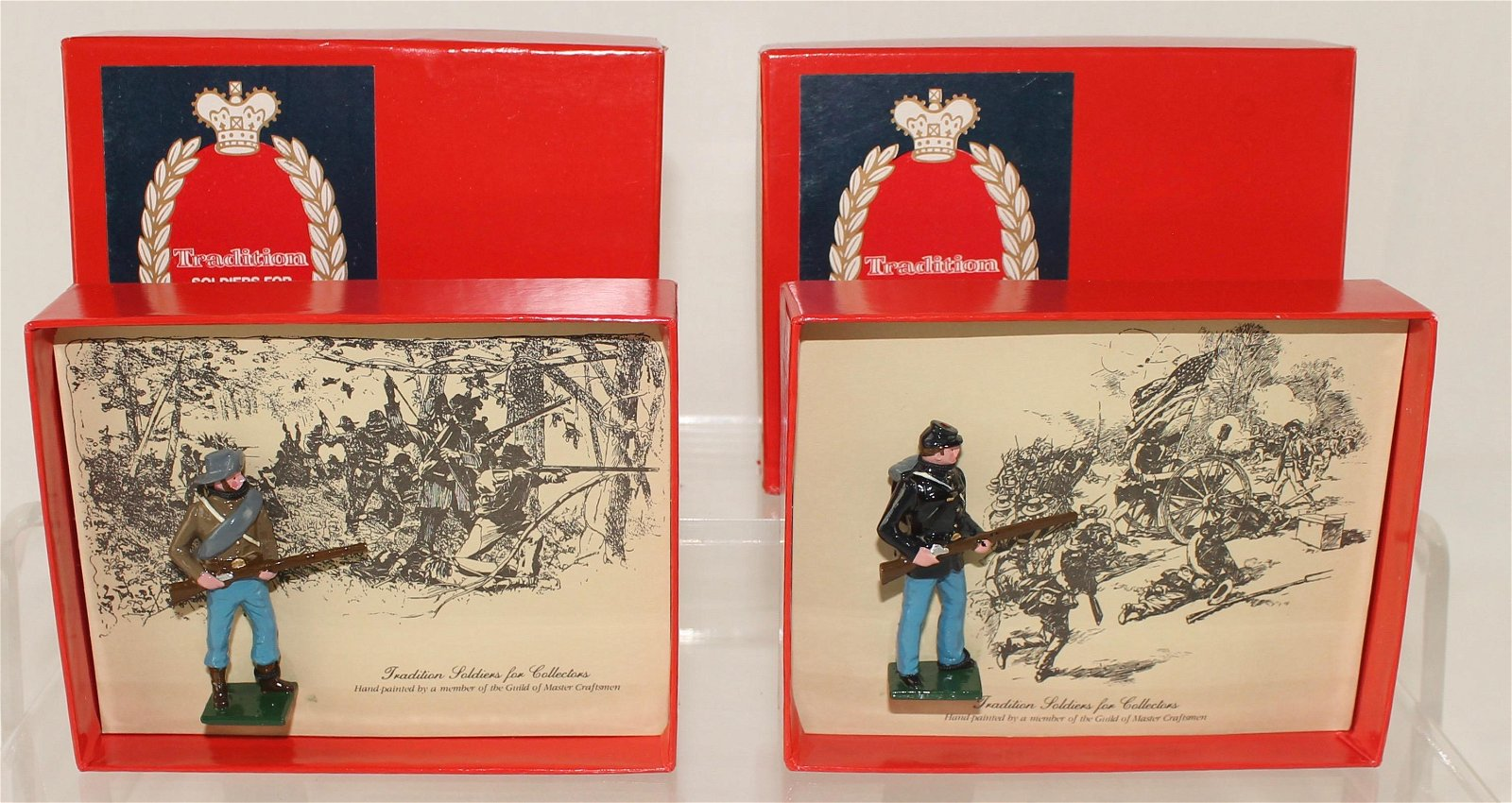 Tradition Lot Union and Confederate Infantry