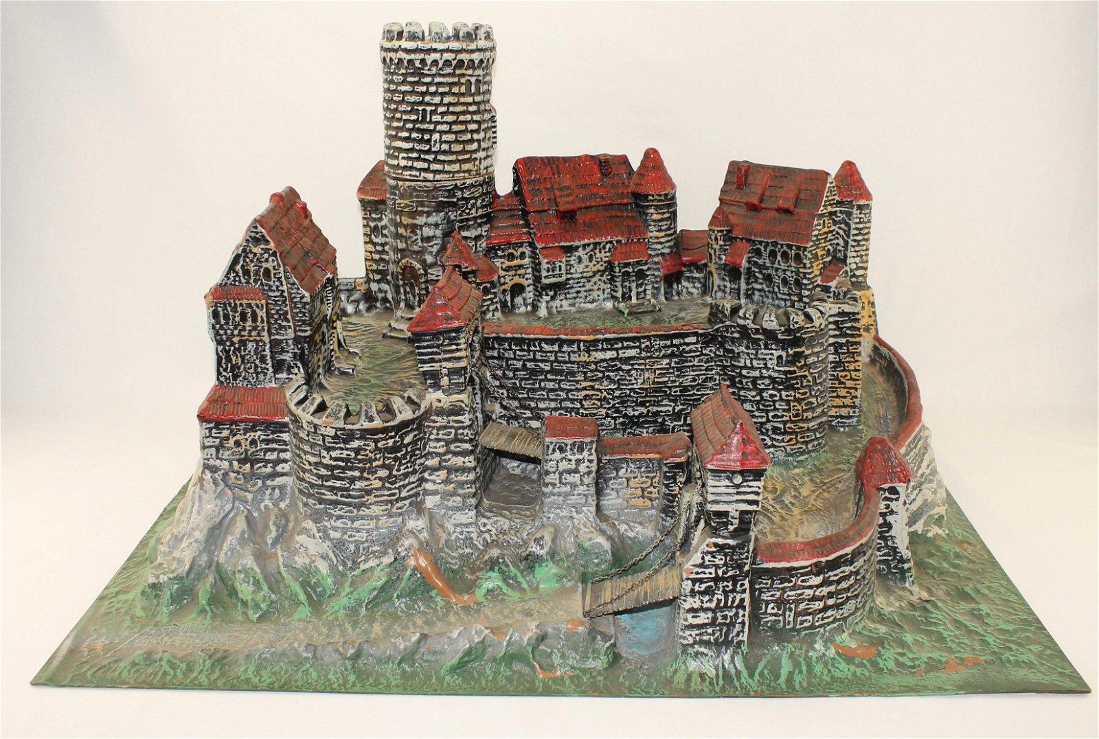 Elastolin Vac-u-Form Castle with Drawbridges