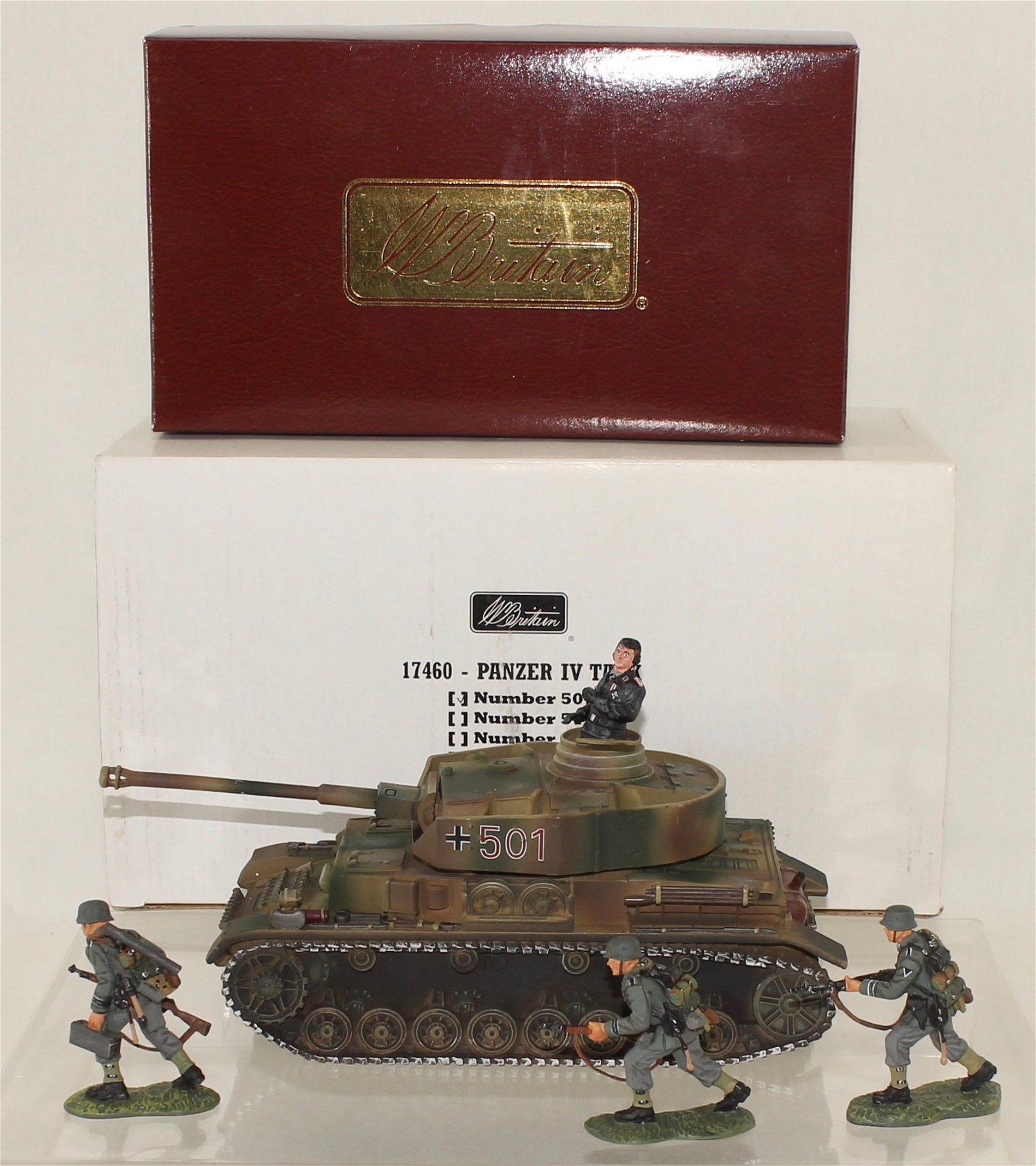 Britains WW II Lot Panzer Tank and Support Team