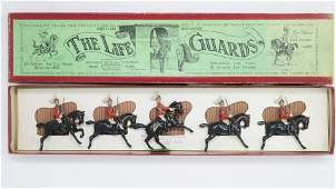Britains set 1 Life Guards with Officer