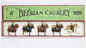 Britains set 190 Belgian Cavalry  with officer