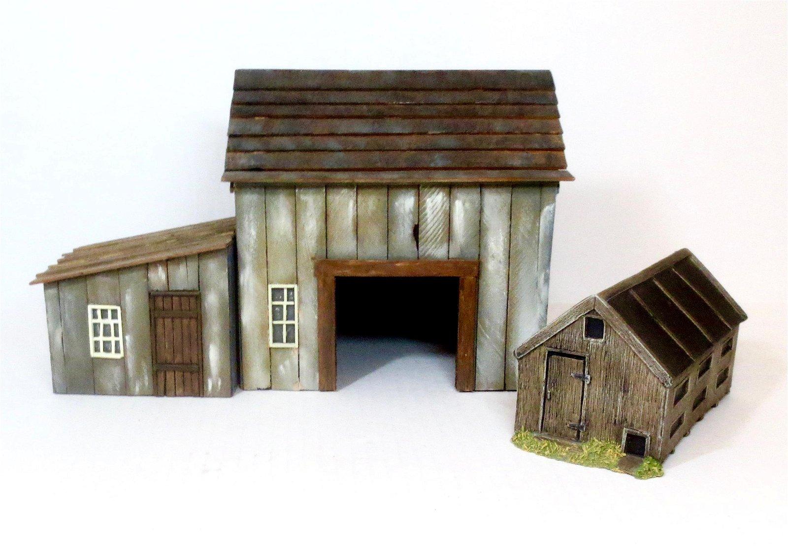 JG Miniatures Farm Buildings