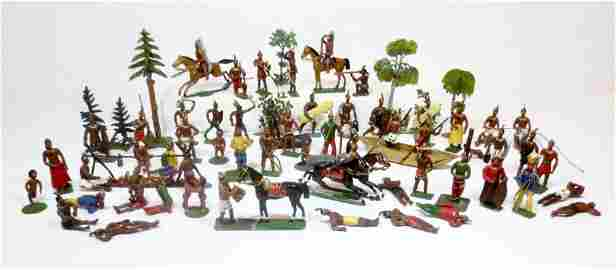 Heyde 63 PIECE RARE Indian Village Set