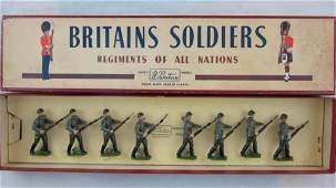Britains Set 2032 Red Army In Steel Helmets