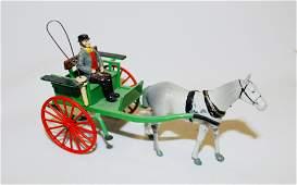 Britains set 20F Farmers Gig metal horse