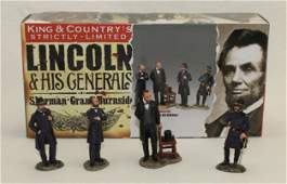King  Country Set Lincoln and His Generals