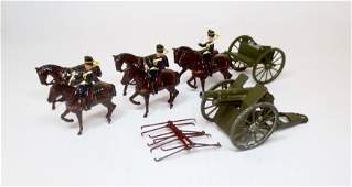 Britains #2077 Royal Horse Artillery Gun Team
