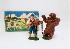 Timpo RARE Gypsy  Dancing Bear Boxed Set