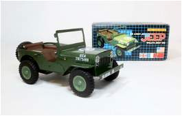Tin Toy Friction Drive US Army Jeep