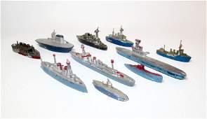 French Slush Cast Lead Battleships  Submarines