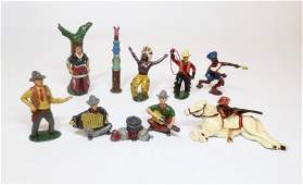 Assorted Wild West Cowboys and Indians