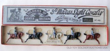 5: Britains Set #45. 3rd Madras Light Cavalry - Box
