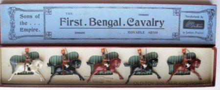 6: Britains Set #47. 1st Bengal Cavalry - Box & Card