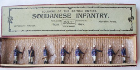 8: Britains Set #116 Soudanese Infantry - Box & Card