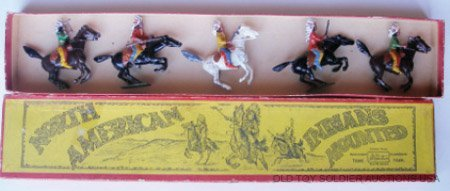 13: Britains Set #152 North American Indian Mounted