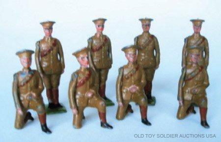 18: Britains Set #313 Royal Artillery Gunners Peak Caps