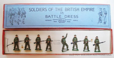 22: Britains Set #1898 British Infantry with Tommy Guns