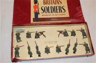 Britains set #1383 Belgian Infantry firing