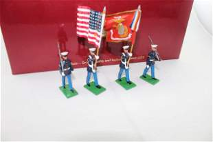 Britains set #17917 USMC 8th & I Color Party