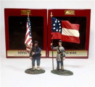 Britains American Civil War Flag Bearers