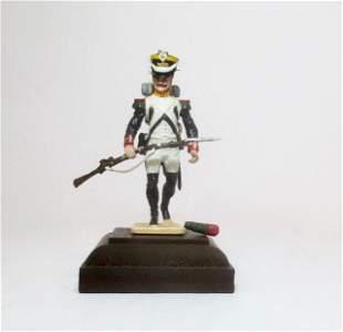 Napoleonic With Rifle Military Miniature Model