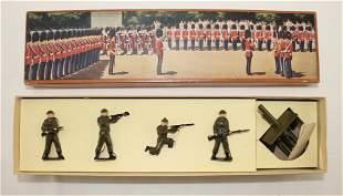 Britains Set #50s British Infantry with Gun
