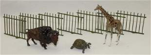 Britains Lot Zoo Fencing and Animals