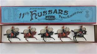 Britains Set #12 Pre War 11th Hussars At Canter.