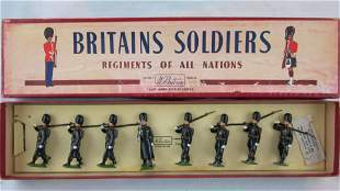 Britains Set # 2009 Belgian Grenadiers In Coats.