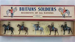 Britains Set #2028 Red Army Cavalry At Halt.