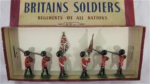 Britains Set #2084 Scots Guard Color Party.