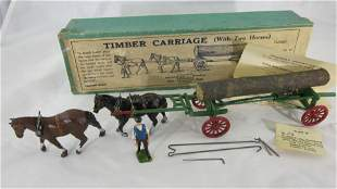 Britains Set #12F Timber Wagon With Farmer.