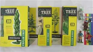 Britains Set# 1806, 1809, 1820 Plastic Trees.