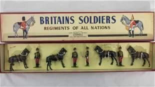 Britains Set #182 Dismounted 11th Hussars.