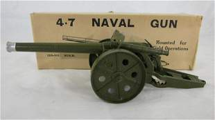 "Britains Set #1264 4.7"" Naval Gun."