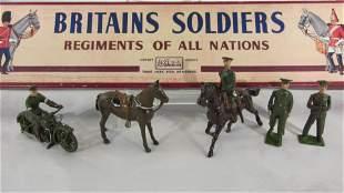 Britains Set #1907 British Khaki Staff Officers.